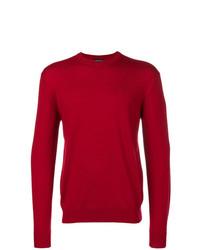 Jersey con cuello circular rojo de Emporio Armani