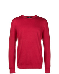 Jersey con cuello circular rojo de Fay
