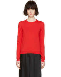 Jersey con cuello circular rojo de Maison Margiela