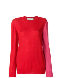 Jersey con cuello circular rojo de Marni