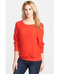 Jersey con cuello circular rojo de Wildfox Couture