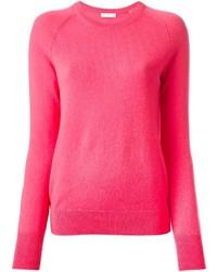 Jersey con cuello circular rosa