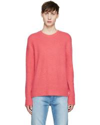 Jersey con cuello circular rosa de Acne Studios