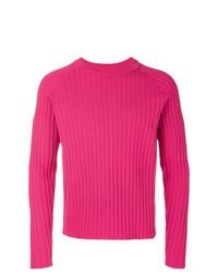 Jersey con cuello circular rosa de AMI Alexandre Mattiussi