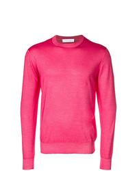 Jersey con cuello circular rosa de Cruciani