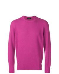 Jersey con cuello circular rosa de Maison Flaneur