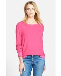 Jersey con cuello circular rosa de Wildfox Couture