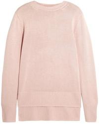Jersey con cuello circular rosado de ADAM by Adam Lippes