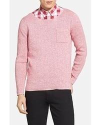 Jersey con cuello circular rosado de Burberry