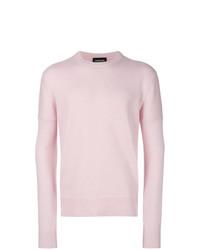 Jersey con cuello circular rosado de Calvin Klein 205W39nyc