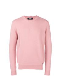 Jersey con cuello circular rosado de DSQUARED2