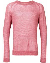 Jersey con cuello circular rosado