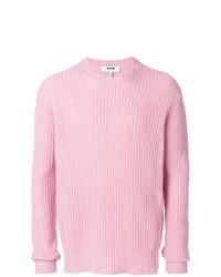 Jersey con cuello circular rosado de MSGM