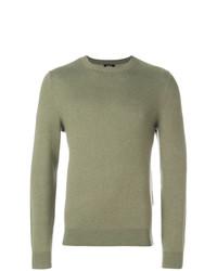 Jersey con cuello circular verde oliva de A.P.C.
