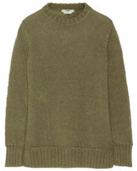 Jersey con cuello circular verde oliva de Fendi
