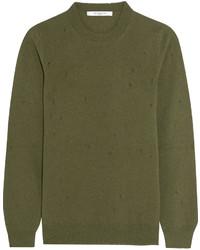 Jersey con cuello circular verde oliva de Givenchy