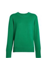 Jersey con cuello circular verde