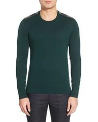Jersey con cuello circular verde oscuro de Burberry
