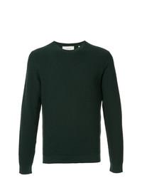 Jersey con cuello circular verde oscuro de Cerruti 1881