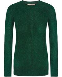Jersey con cuello circular verde oscuro de Christopher Kane