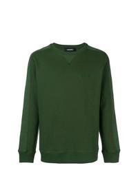 Jersey con cuello circular verde oscuro de Diesel