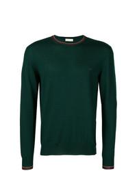 Jersey con cuello circular verde oscuro de Etro