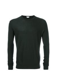 Jersey con cuello circular verde oscuro de Fashion Clinic Timeless