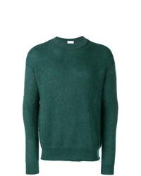 Jersey con cuello circular verde oscuro de John Elliott