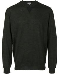 Jersey con cuello circular verde oscuro de Lanvin