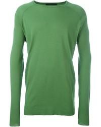Jersey con cuello circular verde de Haider Ackermann