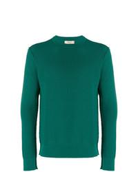 Jersey con cuello circular verde de Maison Flaneur