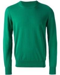 Jersey con cuello circular verde de Maison Margiela