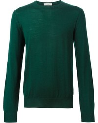 Jersey con cuello circular verde de Paolo Pecora