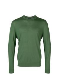Jersey con cuello circular verde de Ps By Paul Smith