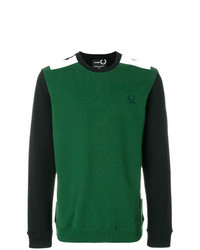 Jersey con cuello circular verde de Raf Simons X Fred Perry