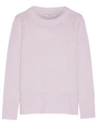 Jersey con cuello circular violeta claro de Burberry