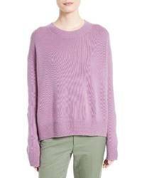 Jersey con cuello circular violeta claro de Vince