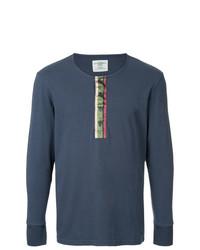 Jersey con cuello henley azul marino de Kent & Curwen