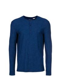 Jersey con cuello henley azul marino de Levi's