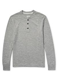 Jersey con cuello henley gris