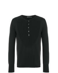 Jersey con cuello henley negro de Alexander McQueen