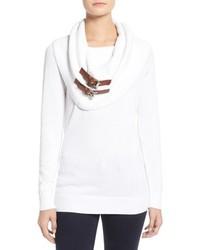 Jersey con cuello vuelto holgado blanco de MICHAEL Michael Kors