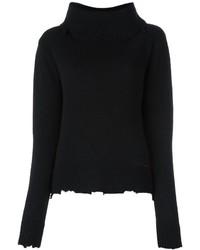 Jersey con cuello vuelto holgado negro de RtA