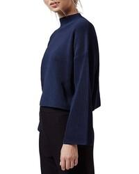 Jersey corto azul marino de Topshop
