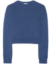 Jersey corto azul de Miu Miu
