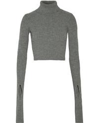 Jersey corto de punto gris de Jacquemus
