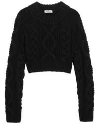 Jersey corto de punto negro de DKNY