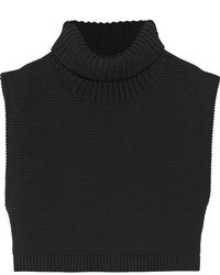 Jersey corto de punto negro de Victoria Beckham