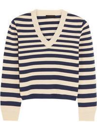 Jersey corto de rayas horizontales en azul marino y blanco de J.Crew