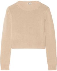 Jersey corto en beige de Miu Miu